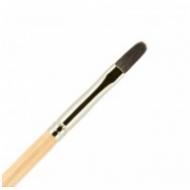 Кисть для ногтей ВАЛЕРИ-Д лак из волоса белки №4 овальная: фото
