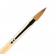 Кисть для ногтей акрил ВАЛЕРИ-Д из волоса колонка №7 лепесток в футляре: фото