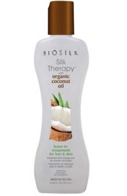Несмываемое средство BIOSILK Silk Therapy с органическим кокосовым маслом для волос и кожи, 167 мл: фото