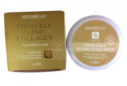 Питательный крем с коллагеном JUNO Medibeau stem cell clinic nourishing cream collagen 100 мл: фото