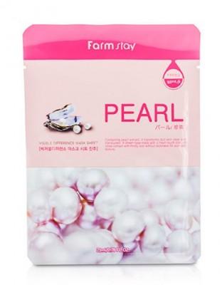Маска с экстрактом жемчуга FARMSTAY Pearl visible difference mask sheet 23 мл: фото