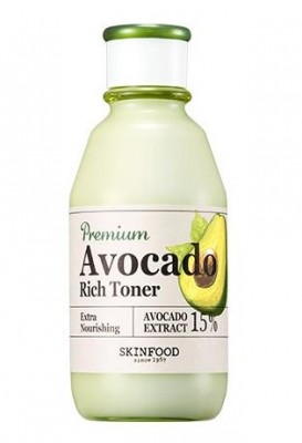 Тоник для увлажнения и питания сухой и обветренной кожи SKINFOOD Premium Avocado Rich Toner: фото