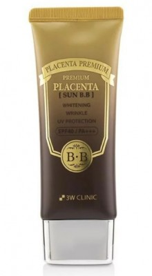 ВВ-крем с плацентой 3W CLINIC Premium Placenta Sun BB Cream SPF40 50мл: фото