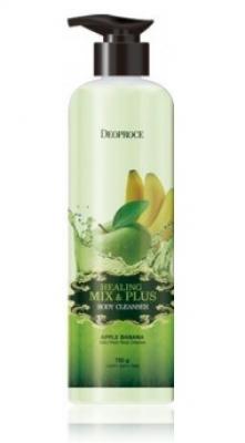 Гель для душа Ароматерапия - Яблоко-Банан DEOPROCE Healing mix & plus body cleanser apple banana 750г: фото