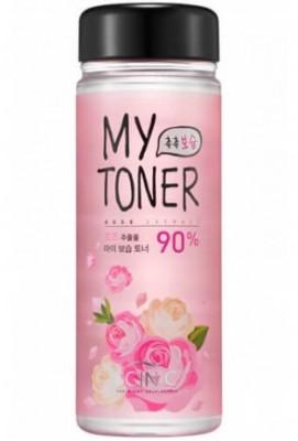 Набор: тоник с экстрактом розы+пустая бутылочка SCINIC My toner rose 90% Special Set 250мл: фото
