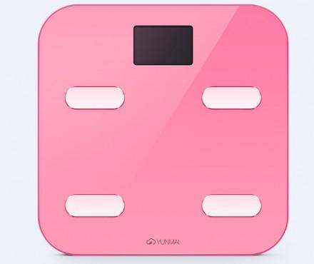 Умные весы YUNMAI color, розовые: фото