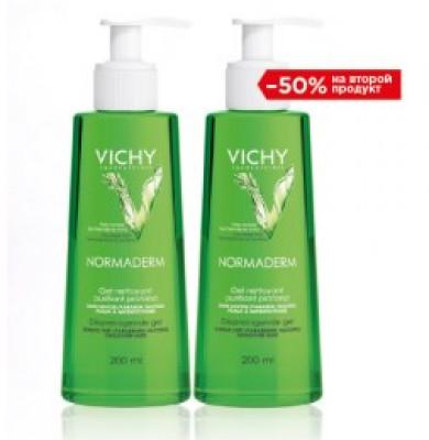 Набор VICHY NORMADERM Глубоко очищающий гель 200мл -50% на второй: фото