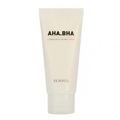 Крем обновляющий с AHA и BHA кислотами для чистой кожи EUNYUL AHA.BHA Clean Exfoliating Cream50г,: фото
