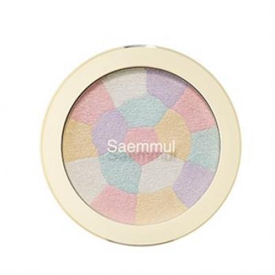 Хайлайтер минеральный THE SAEM Saemmul Luminous Multi Highlighter 01. Pink White 8гр: фото