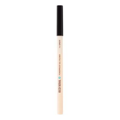 Карандаш для глаз водостойкий гелевый THE SAEM Eco Soul Waterproof Gel eyeliner 01 Deep sea pearl black 0.5гр: фото