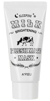 Маска для лица ночная A'PIEU Fresh Mate Milk mask Brightening: фото