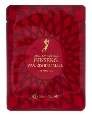 Маска для лица тканевая женьшень Mijin Skin Planet Selection prestige ginseng nourishing mask 25г: фото