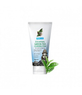 Пенка для умывания Welcos Jeju Natural Green Tea Cleansing Foam 120гр: фото