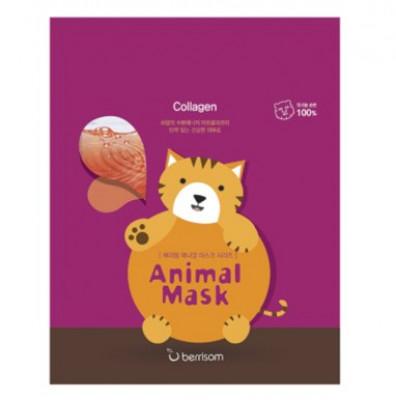 Маска тканевая с морским коллагеном Berrisom Animal mask series Cat 25мл: фото