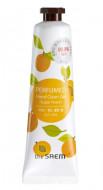 Крем-гель для рук парфюмированый THE SAEM Perfumed Hand Clean Gel Sugar Peach 30мл: фото