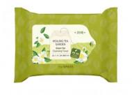 Салфетки очищающие с экстрактом зеленого чая THE SAEM Healing Tea Garden Green Tea Cleansing Tissue 20шт: фото