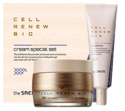 Набор уходовый антивозрастной THE SAEM Cell Renew Bio Cream Special Set N2 60мл*20мл: фото