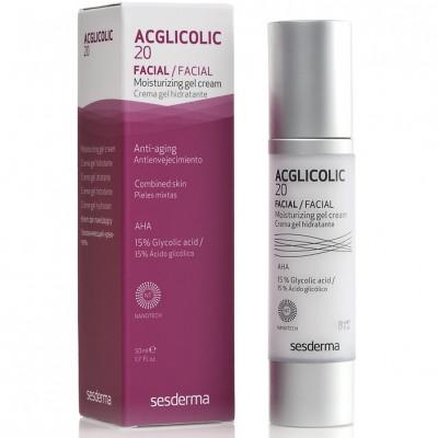 Крем-гель увлажняющий с гликолевой кислотой Sesderma Acglicolic 20 Facial Moisturizing Gel Cream 50мл: фото