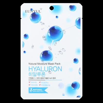 Тканевая маска с гиалуроновой кислотой EUNYUL NATURAL MOSTURE MASK PACK HYALURON 22мл: фото