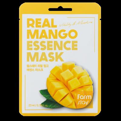 Тканевая маска для лица с экстрактом манго FARMSTAY REAL MANGO ESSENCE MASK 23 мл: фото