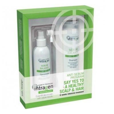 Набор против жирности волос Revlon Professional INTRAGEN SEBUM: шампунь 250 мл + концентрат 125 мл: фото