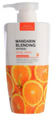 Гель для душа Welcos Around me Mandarin Blending Body Wash 500г: фото