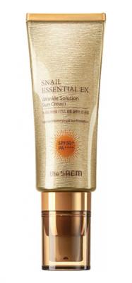 Крем солнцезащитный THE SAEM Snail Essential EX Wrinkle Solution Sun Cream 40мл: фото
