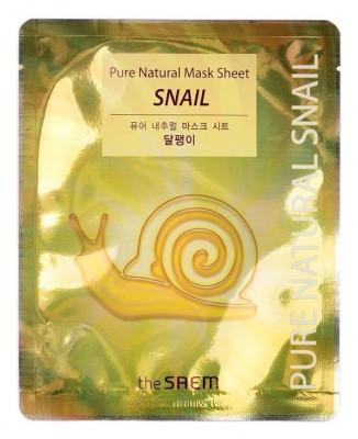 Маска тканевая с муцином улитки THE SAEM Pure Natural Mask Sheet Snail 20мл: фото