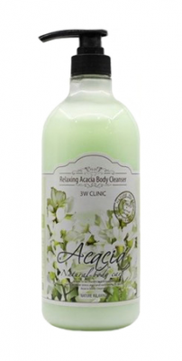 Гель для душа релакс АКАЦИЯ 3W CLINIC Relaxing Body Cleanser Acacia 1000 мл: фото