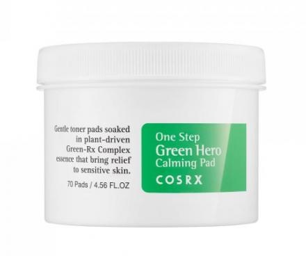Пады для лица успокаивающие CosRX One Step Green Hero Calming Pad 70шт: фото