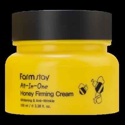 Крем с экстрактом меда FARMSTAY ALL-IN-ONE HONEY FIRMING CREAM, 100мл: фото