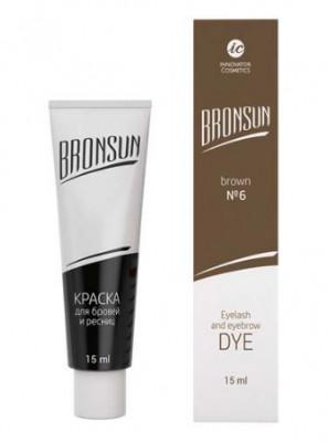 Краска для ресниц и бровей BRONSUN #6 цвет коричневый 15мл: фото