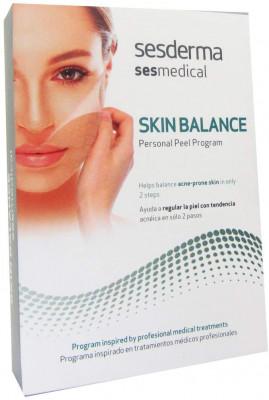 Программа персональная для восстановления баланса кожи, склонной к акне Sesderma SESMEDICAL Skin balance personal peel program 4 салфетки + 15мл: фото
