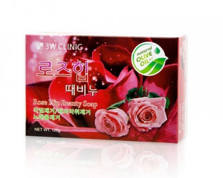 Мыло для лица и тела с экстрактом розы 3W Clinic Rose Hip Beauty Soap 120г: фото