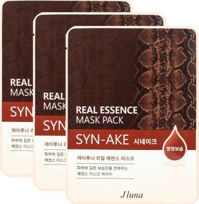 Тканевая маска с пептидом Syn-Ake Juno JLUNA Real Essene mask pack Syn-Ake 25мл*3шт: фото