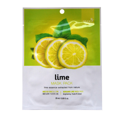 Тканевая маска для лица с экстрактом лайма BERGAMO Lime Mask Pack 28 мл: фото