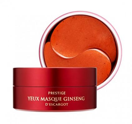 Патчи гидрогелевые с женьшенем и улиткой It'S SKIN Prestige Yeux Masque Ginseng D'escargot 60 шт: фото