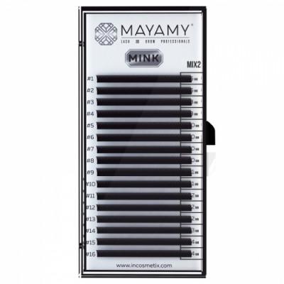 Ресницы MAYAMY MINK 16 линий С 0,12 MIX 2: фото