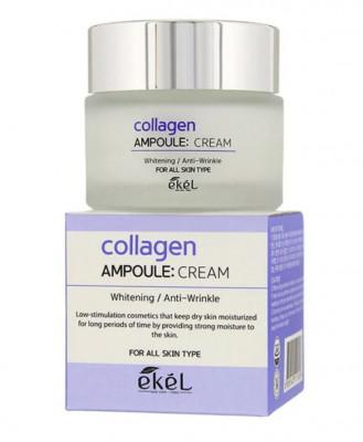 Ампульный крем с коллагеном Ekel Collagen Ampoule Cream 50 мл: фото